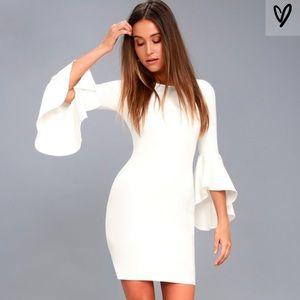 Lulu's white body on dress